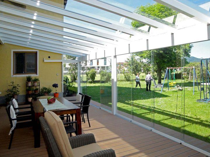 Terrassenverglasung Sommergarten Beheizen Mit Infrarotheizung